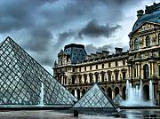 Paris Digital Art Prints - The Majestic Louvre Print by Greg Sharpe