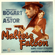 Films By John Huston Prints - The Maltese Falcon, Humphrey Bogart Print by Everett