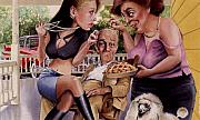 Pie Paintings - The Man and his Sweethearts by Denny Bond