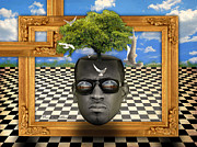 Surrealistic Prints - The man and the tree  Print by Mark Ashkenazi