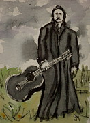 Songwriter Painting Originals - The Man Comes Around by Pete Maier