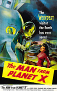 1950s Movies Framed Prints - The Man From Planet X, Pat Goldin Framed Print by Everett