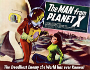 Classic Sf Posters Framed Prints - The Man From Planet X, Pat Goldin Title Framed Print by Everett