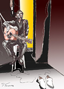 The Man In Black Print by David Fossaceca