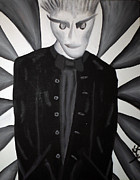 Creepy Paintings - The Man in Black by Jera Sky
