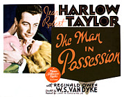 Atcm1 Posters - The Man In Possession, Jean Harlow Poster by Everett