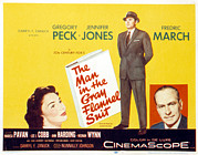 1950s Movies Posters - The Man In The Gray Flannel Suit Poster by Everett