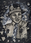 African-american Paintings - The Man by Larry Poncho Brown