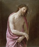 Christ Painting Posters - The Man of Sorrows Poster by Guido Reni
