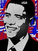 Obama Drawings Drawings Posters - The Man Who Killed Osama  Poster by Robert Margetts