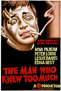 Man Who Knew Too Much Posters - The Man Who Knew Too Much, Peter Lorre Poster by Everett
