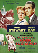 1956 Movies Photo Posters - The Man Who Knew Too Much, Top Poster by Everett