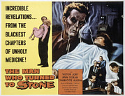 1957 Movies Framed Prints - The Man Who Turned To Stone, Victor Framed Print by Everett