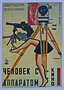Motion Picture Posters - The Man with a Movie Camera Poster by Nomad Art And  Design