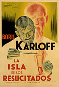 Spanish Poster Art Posters - The Man With Nine Lives, Boris Karloff Poster by Everett