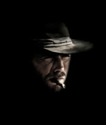 Western Digital Art Prints - The Man With No Name Print by Laurence Adamson