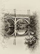 The Hills Digital Art Framed Prints - The Manayunk Bridge Across the Schuylkill Framed Print by Bill Cannon