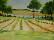 Garden Scene Paintings - The Mangan Farm  by Vicki  Housel