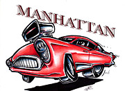Mahattan Drawings - The Manhattan by Big Mike Roate