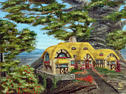 Straw Roof Art - The Manor Cottage from Arboregal by Dumitru Sandru