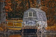 Concord Digital Art Framed Prints - the Manse Boathouse Framed Print by Tricia Marchlik