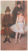 Daughter Pastels Posters - The Mante Family Poster by Edgar Degas