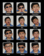 Contempt Posters - The Many Faces of Emilio Poster by Rianna Stackhouse