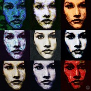 Monroe Framed Prints - The many faces of Eve Framed Print by Gun Legler