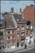 Rooftops Digital Art - The Many Layers of Brussels by Carol Groenen