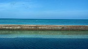 Dry Tortugas Prints - The Many Shades of Blue Print by Stefanie G Reay