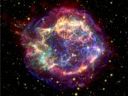 Infrared Lights And Lighting Prints - The Many Sides Of The Supernova Remnant Print by Nasa