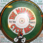 Coin Prints - The Marathon Cycle Race At The Musee Mecanique At Fishermans Wharf . San Francisco CA . 7D14396 Print by Wingsdomain Art and Photography