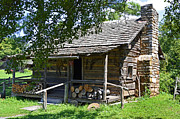 Front Porch Posters - The Mark Twain Family Cabin Poster by Paul Mashburn