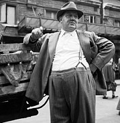 Suspenders Posters - The Market Man Poster by Bert Hardy