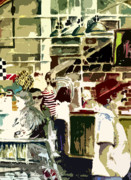 Grocery Store Digital Art - The Market by Mindy Newman