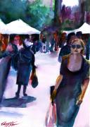 Union Square Painting Prints - The Market No. 1 Print by Elizabeth Shrum