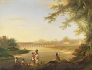 The Marmalong Bridge Print by William Hodges