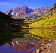 Bells Photos - The Maroon Bells by Alex Cassels