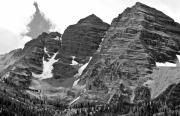 Mountainside Framed Prints - The Maroon Bells Colorado Framed Print by Brendan Reals
