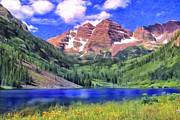 Dominic Piperata Metal Prints - The Maroon Bells Metal Print by Dominic Piperata