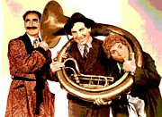 Film Mixed Media - The Marx Brothers by Charles Shoup