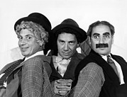 Marx Framed Prints - The Marx Brothers From Left Harpo Marx Framed Print by Everett