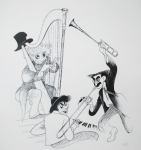 Lithograph Originals - The Marx Brothers by Rob Hans