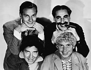 Marx Framed Prints - The Marx Brothers, Top Zeppo Marx Framed Print by Everett