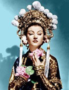 Gold Lame Prints - The Mask Of Fu Manchu, Myrna Loy, 1932 Print by Everett