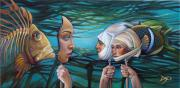Mermaid  Paintings - The Masqueradeum by Patrick Anthony Pierson