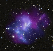 Digitally Generated Image Photos - The Massive Galaxy Cluster Macs J0717 by Stocktrek Images