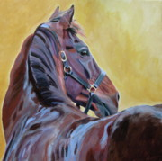 Bay Horse Metal Prints - The Masters Metal Print by Anne West