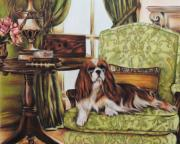 King Charles Spaniel Prints - The Masters Study Print by Jai Johnson