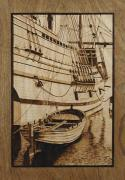 Massachusetts Pyrography - The Mayflower Plymouth MA by Cate McCauley